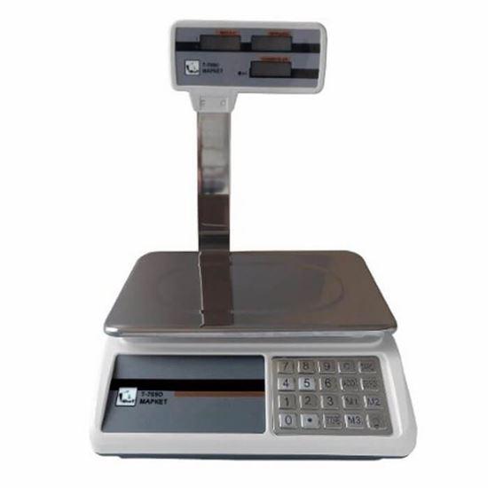 Изображение Весы торговые со стойкой ФорТ-Т  769D/B (32,5) LCD Маркет, стойка